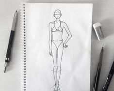 Learn how to design female frontal pose and use this fashion croquis in your designs. It is a simple tutorial for any one interested in fashion. Walking Poses, Fashion Design Classes, Fashion Figure Drawing, Interior Design Courses, Catwalk Models, Fashion Figures, Drawing Clothes, Design Tutorials, Fashion Sketches