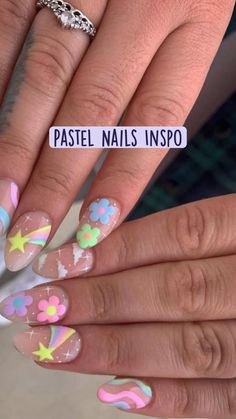 Aycrlic Nails, Glue On Nails, Diy Nails, Swag Nails, Coffin Nails, Spring Nails, Summer Nails, Summer Nail Art, Kawaii Nails