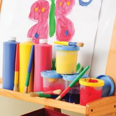 Brush, Paint & Cups Set at CPtoys.com