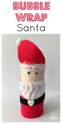 Bubble Wrap Santa. Add a quirky new twist to a class Cardboard Tube Santa Craft. Make his beard from Bubble Wrap.