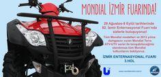 82. İzmir Enternasyonal Fuarı açılıyor, Mondial sizlerle buluşuyor. 29 Ağustos-8 Eylül tarihleri arasında tüm Mondial modelleri ve 2013 yılına damgasını vuran Terra ATV-UTV serisini yakından inceleyebileceğiniz İzmir Enternasyonal Fuarı 3. Hol'deki standımıza tüm motosiklet tutkunlarını bekliyoruz.