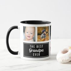 The Best Grandpa Ever Black Collage Photo Mug - kitchen gifts diy ideas decor special unique individual customized Grandparents Day Gifts, Funny Fathers Day Gifts, Grandpa Gifts, Diy Father's Day Gifts, Home Gifts, Photo Collage Design, Father Photo, Personalised Gifts Unique, Cute Mugs