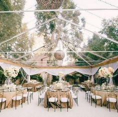 FOR THE RECEPTION || Beautiful clear marquee || NOVELA BRIDE...where the modern romantics play & plan the most stylish weddings... www.novelabride.com #jointheclique @novelabride