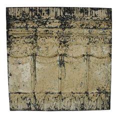 Tin Panel Decor, Wall Decor, Tin, Tin Panel, Tin Ceiling, Paint Colors, Paneling, Old Building