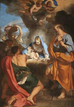 Carlo Maratta (1625-1713) — The Adoration of the Shepherds: St Anne's College, University of Oxford. UK (650x944)