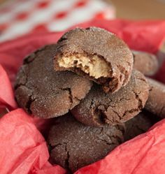 Chocolate Peanut Butter Surprise Cookies --made these tonight they are SO GOOD