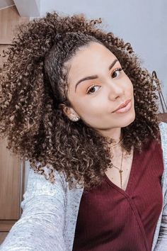 Ideas For Hair Braids Afro Natural Hairstyles Long Curly Hair, Curly Hair Styles, Natural Hair Styles, Curly Afro, Short Hair, Afro Hairstyles, Mixed Girl Hairstyles, Long Weave Hairstyles, Hair Type