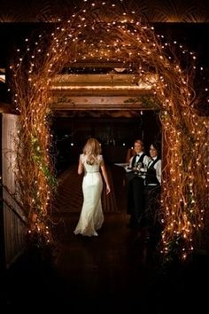 Wedding Arch I like this as tent entrance for dinner reception