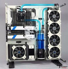 Notebook or Desktop Computer – Which Should You Choose? Gaming Computer Setup, Gaming Pc Build, Gaming Room Setup, Gaming Pcs, Computer Build, Pc Setup, Computer Case, Pc Cases, Wall Mounted Pc