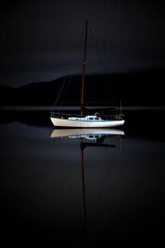 Dark Night at Sea : Photo Art Of Love, Sail Away, Set Sail, Tall Ships, Dark Night, Water Crafts, Great Photos, Black Backgrounds, Kayaking