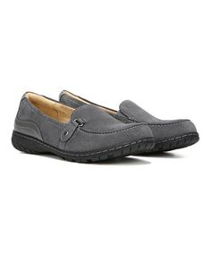 Another great find on #zulily! Gray Rowan Suede Loafer #zulilyfinds