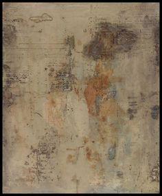 Tanya Bonello, Vestige series, No 45, 600x450mm, gypsum and oil on board, 2004