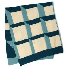Patons Knit Shadowbox Blanket