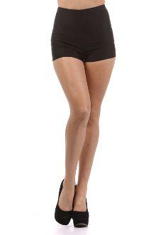 Sexy Black High-Waisted Shorts - rosadopink.com