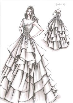 fashion design illustration for beginners, design drawing easy, fashion drawing , Dress Design Drawing, Dress Design Sketches, Fashion Design Sketchbook, Fashion Design Drawings, Fashion Sketches, Dress Drawing Easy, Drawing Art, Drawing Sketches, Fashion Drawing Dresses
