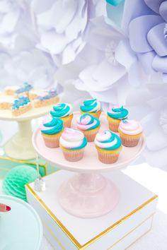 Swirl cupcakes from a Magical Unicorn Birthday Party on Kara's Party Ideas   KarasPartyIdeas.com (28)