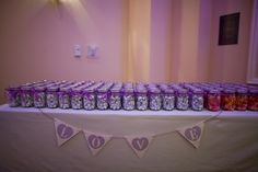 Wedding favors - mason jars filled with candy