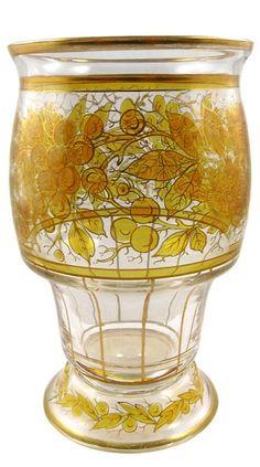 Vase mit Transparentmalerei, Joh. Oertel & Co. Haida um 1915