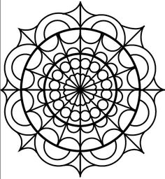 ☮ American Hippie Art ~ Coloring Pages . Mandala Coloring Pages, Colouring Pages, Adult Coloring Pages, Coloring Books, Mandalas Painting, Dot Painting, Mandala Art, Stained Glass Patterns, Mosaic Patterns