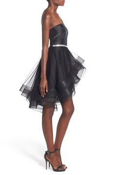 Way-In 'Susie' Embellished Waist Tulle Strapless Dress: a longer version of this with straps could be fantastic