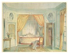 All sizes | 011- Sala de baño estilo Luis XVI- acuarela 1907 | Flickr - Photo Sharing!