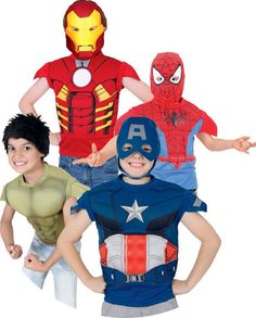 Spiderman & Avengers Dress Up Sets Ronald Mcdonald, Spiderman, Avengers, Dress Up, Xmas, Summer, Fictional Characters, Spider Man, Summer Time