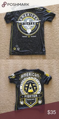 American Fighter Shirts, Graphic Tees, Tee Shirts, Training, Man Shop, Best Deals, Sleeve, Mens Tops, Closet