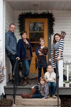 Our family photo 2012 on our front porch