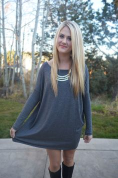 Softie Tunic - Charcoal