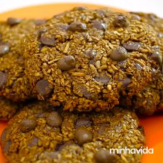 Delicious Cookie Recipes, Sweet Recipes, Whole Food Recipes, Yummy Food, Cookie Light, Confort Food, Tasty Videos, Best Weight Loss Foods, Food 52