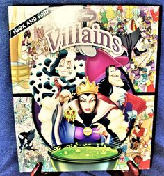 Look and Find: Disney Villains Hardcover 2009 Editors of Publications Intl. NEW