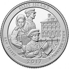"""The U.S. Mint has turned to one of the most famous American landmarks, Ellis Island, for the fourth coin of 2017 in the popular 5-oz. Silver America the Beautiful (""""ATB"""") Series. Adjacent to the Statue of Liberty, the two inseparable American symbols mark the arrival destination for over 12 million immigrants between 1892 and 1954. Nearly half of our American ancestors were processed through Ellis Island in that sixty year span; an event depicted in this coin's reverse design of a family…"""