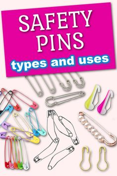 A video sewing tutorial on safety pins: types, sizes and uses for safety pins. There are many types of safety pins: traditional, curved, wonder pins, heavy duty or skirt/ kilt safety pins, bulb (gourd), button safety pins, decorative safety pins. Learn how to use them for your beginner sewing projects: basting quilts, holding fabric pieces together, fitting clothing, threading elastic or a drawstring, hanging patterns, and more.