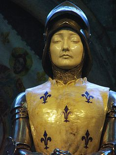 St Joan of Arc | www.saintnook.com/saints/joanofarc | File:Jeanne d'Arc cathédrale de Reims.jpg