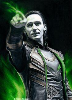 Loki - Magic (drawing) by Quelchii on DeviantArt