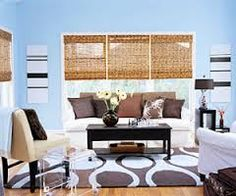 orange, blue and white living rooms - Google Search