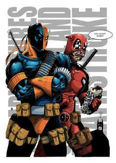 The Adventures Of Deadpool and Deathstroke - Markus Sangalang Deathstroke Vs Deadpool, Deathstroke The Terminator, Deadpool 3, Marvel Vs, Marvel Dc Comics, Deadpool Pictures, Marvel And Dc Crossover, Novel Characters, Dc Comics Superheroes