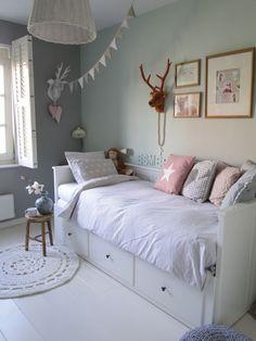 Teen Girl Bedrooms, Why not Analyse the exceptional room styling image number 5534254172 Ikea Kids Bedroom, Bedroom For Girls Kids, Big Girl Rooms, Day Bed Ikea, Ikea Girls Room, Baby Room Decor, Bedroom Decor, Teenage Room, Hemnes