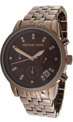 Michael Kors Watch , Michael Kors Women's MK5547 Showstopper Chocolate Chronograph Watch...$172.08
