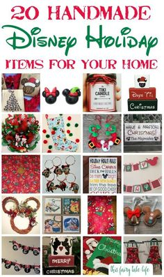 20 Handmade Disney Holiday Items for Your Home - This Fairy Tale Life - - Make your home magical and merry with these Disney holiday decor items, all handmade with love on my favorite shopping website - Etsy! Disney Christmas Crafts, Disney Diy Crafts, Disney Christmas Decorations, Mickey Mouse Christmas, Disney Ornaments, Disney Home Decor, Magical Christmas, Diy Christmas Ornaments, Diy Christmas Gifts