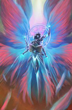 Fantasy Art Angels, Dark Fantasy Art, Ange Demon, Demon Art, Angel Warrior, Fantasy Warrior, Fantasy Character Design, Character Art, Angel Illustration