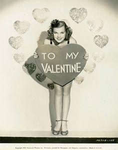 1930s Joyce Matthews Valentine Pinup