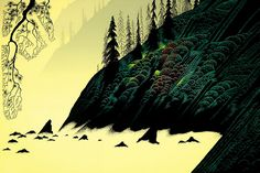 Spruce Redwood and Pine Eyvind Earle - WikiPaintings.org 1988