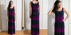 Gorgeous maxi - I like the wide straps and defined waist - great colors and print