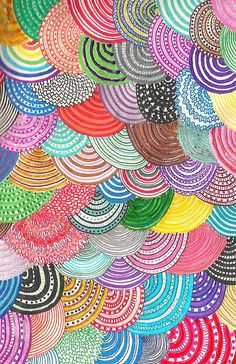layered circle pattern - GREAT COLLABORATIVE PROJECT