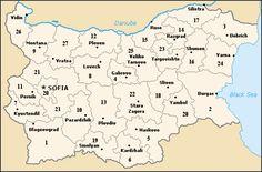 BULGARIA. Desde 1999 territorialmente se divide en 28 oblasti (provincias), que coinciden aproximadamente con los aníguos 28 odrazi (distritos) existentes hasta 1987.