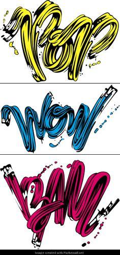 Lichtenstein Tribute #popart #typography