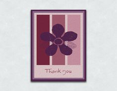 Thank You Cards  Sets of 10 and 15 by LWurtenbergStudio on Etsy