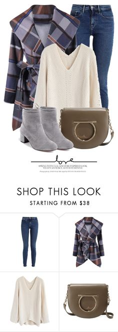 """""""8:58"""" by monmondefou ❤ liked on Polyvore featuring Calvin Klein, Chicwish and Salvatore Ferragamo"""