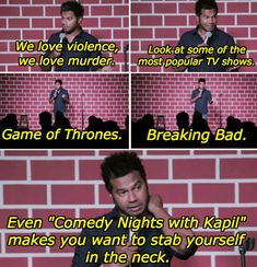 On violence:   19 Times Indian Comedians Were Spot-On About Life, The Universe, And Everything